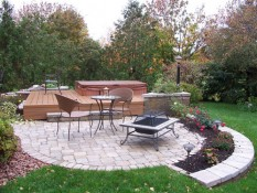 Brick Patio And Fire Pit Area